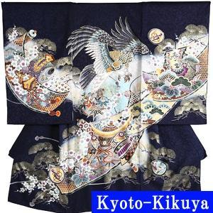 赤ちゃんのお宮参り用 男の子のレンタル着物  フードセット付きのフルセットレンタルです。  ◆お宮参...