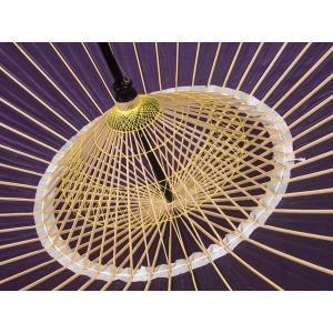 本物和傘 蛇の目傘(絹) 絹張りモデル 紫/送迎や披露宴、写真館の演出にも|kyotokikyokan|02