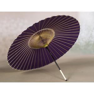 本物和傘 蛇の目傘(絹) 絹張りモデル 紫/送迎や披露宴、写...