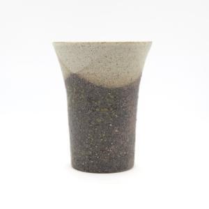 お中元 多屋嘉郎 清水焼 京焼 フリーカップ ビアカップ 陶器 京都 保温 掛分け 手作り|kyotomarche