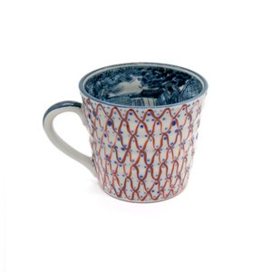 ホワイトデー 卒業祝い マグカップ おしゃれ 六斎窯 染付山水 器 和食器 陶器 清水焼|kyotomarche