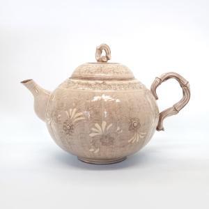 清水焼 京焼 ティーポット 石瓶 急須 紫三島ティーポット 陶器 手作り 和食器|kyotomarche