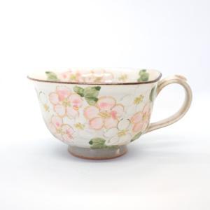 お中元 俊山窯 森俊山 清水焼 京都 京焼 陶印 ベゴニア カップ スープカップ ティーカップ|kyotomarche