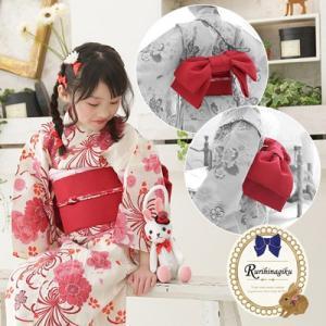 作り帯 (文庫結び風) 子供 浴衣用 日本製 文庫 七五三 帯 マジックテープで簡単装着できます♪ ここでしか買えない当店オリジナルの形です!!|kyotorurihinagiku