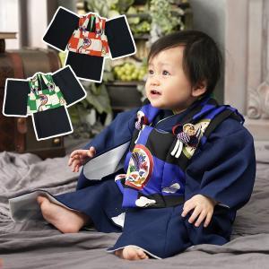 ベビー 着物 初節句 端午の節句 1歳 被布セット 80 90 きもの 男の子 お食い初め 百日祝い ベビー着物 お正月 誕生日 出産祝い プレゼント 1歳誕生日 送料無料|kyotorurihinagiku