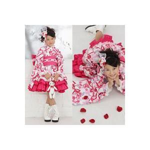 ≪七五三早割りセール≫ 七五三着物 着物ドレス 『雪うさぎの着物ドレス(白)』 女の子 着物ドレス+作り帯の2点セット|kyotorurihinagiku
