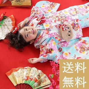 タイムセール 七五三 着物 3歳 フルセット 購入 三才 子供 女の子 こども お祝い着 着物 襦袢 草履 セット|kyotorurihinagiku