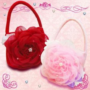 七五三 巾着 バッグ 「お花のバッグ」 結婚式 お祝い 753 お正月 プレゼント ギフトに|kyotorurihinagiku