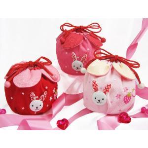 七五三 巾着 バッグ 「いちごうさぎの巾着(単品)」 七五三 巾着  結婚式 お祝い プレゼントに|kyotorurihinagiku