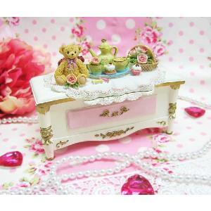 プリンセスベアー宝石箱(ホワイト) 誕生日プレゼント 出産祝い クリスマスプレゼント 御祝い ギフト プレゼント 贈り物|kyotorurihinagiku