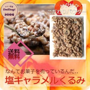 【送料無料!】ワイン食堂Umiusagiの塩キャラメルくるみ200g|kyotoumiusagi