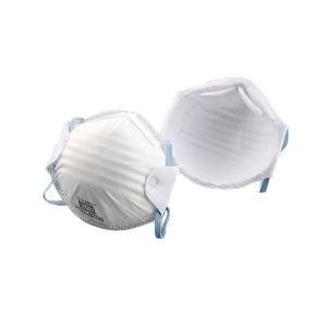トーヨーセフティー 使い捨て式防じんマスク(20枚入) No.1709   ●簡単にしめひもの長さ調...