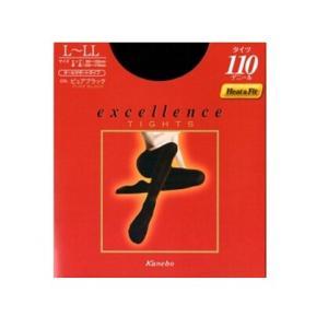 kaneboカネボウ エクセレンスタイツ 110デニール ピュアブラック L〜LL|kyougenn