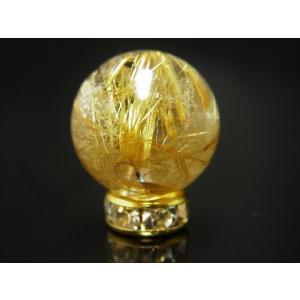 現品一点物 タイチンルチル(金針水晶) 14ミリ ハンドメイド クォーツ 金針水晶 天然石パワーストーン 開運 最強金運