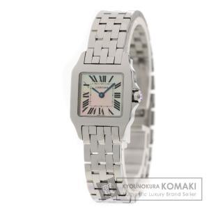 CARTIER カルティエ W25075Z5 サントス ドゥモワゼル SM 腕時計 ステンレス レディース 中古
