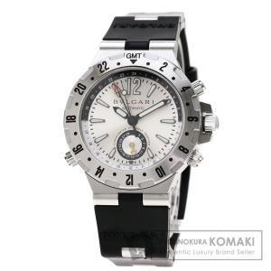 62a869f1c3ca ブルガリ GMT40C5SVD ディアゴノ プロフェッショナル 腕時計 ステンレススチール ラバー メンズ 中古