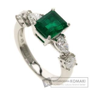 タサキ コロンビア産エメラルド ダイヤモンド リング・指輪 プラチナPT900 レディース 中古