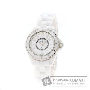 シャネル CHANEL H2570 J12 29 8Pダイヤモンド 腕時計  セラミック セラミック...