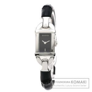 f2ec1c902302 GUCCI グッチ 6800L バンブー 腕時計 ステンレススチール レディース 中古