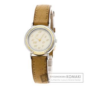 HERMES エルメス メテオール 腕時計  ステンレススチール 革 レディース  中古