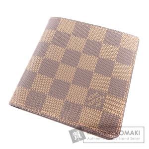 LOUIS VUITTON ルイ・ヴィトン N61666 ポルトビエ6カルトクレディ 二つ折り財布(小銭入れなし) ダミエキャンバス メンズ 中古|kyounokura