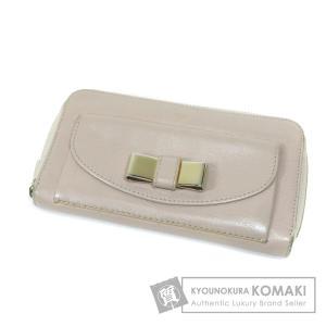 a924f690c382 クロエ リボンモチーフ 長財布(小銭入れあり) レザー レディース 中古