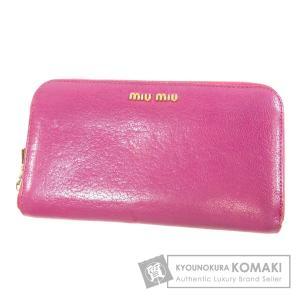 8296f4ae16f2 MIUMIU ミュウミュウ ロゴマーク 長財布(小銭入れあり)レザー レディース 中古