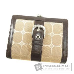 0a1044885c2b COMME CA DU MODE コムサ・デ・モード ベルトデザイン 二つ折り財布(小銭入れあり)キャンバス レディース 中古