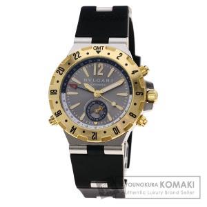 6b063a48c4a2 BVLGARI ブルガリ GMT40C5SGVD ディアゴノ 腕時計 ステンレススチール/ラバー メンズ 中古