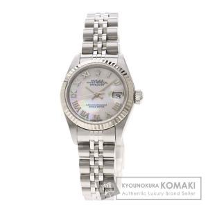 e81555bd32 ROLEX ロレックス 79174NR デイトジャスト 腕時計 ステンレススチール/SS/K18WG レディース 中古