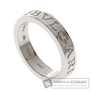 BVLGARI ブルガリ ダブルロゴリング 1Pダイヤモンド リング・指輪K18ホワイトゴールド レ...