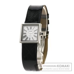 CHANEL シャネル マドモアゼル 腕時計  ステンレススチール/革 レディース  中古