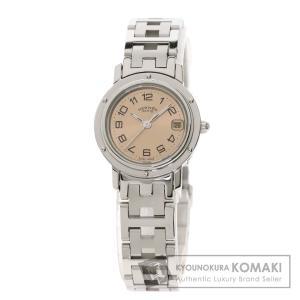 HERMES エルメス CL4.210 クリッパー 腕時計  ステンレススチール SS レディース ...