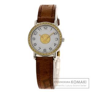 HERMES エルメス 四角J刻印 セリエ 腕時計  ステンレススチール 革 レディース  中古