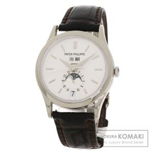 PATEK PHILIPPE パテックフィリップ 5396G-011 マニュアルカレンダー 腕時計  K18ホワイトゴールド 革 メンズ  中古 kyounokura