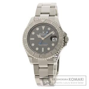 ROLEX  ロレックス 268622 ヨットマスター37 ロレジウム 腕時計  ステンレススチール SS プラチナ ボーイズ  中古|kyounokura
