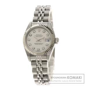ROLEX  ロレックス 79174G デイトジャスト 10Pダイヤモンド 腕時計  ステンレススチール SS K18 WG レディース  中古|kyounokura