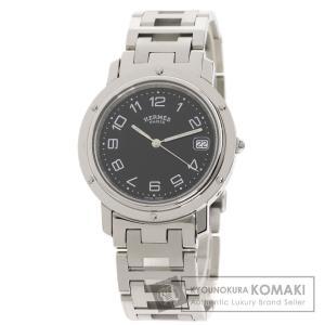 HERMES エルメス CL6.710 クリッパー 腕時計  ステンレススチール SS メンズ  中...