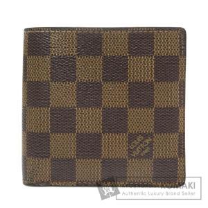 LOUIS VUITTON ルイヴィトン N61675 ポルトフォイユ・マルコ 二つ折り財布(小銭入れあり) ダミエキャンバス メンズ 中古 kyounokura