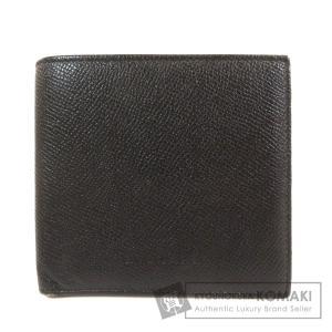 BVLGARI ブルガリ ロゴ型押し 二つ折り財布(小銭入れあり)レザー メンズ 中古