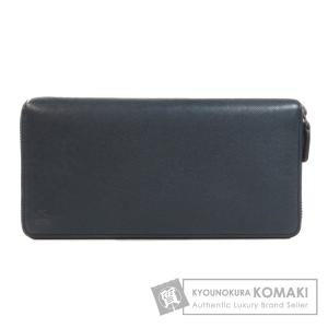 エムシーエム ロゴ型押し 長財布 小銭入れあり  レザー メンズ 【中古】【MCM】|kyounokura