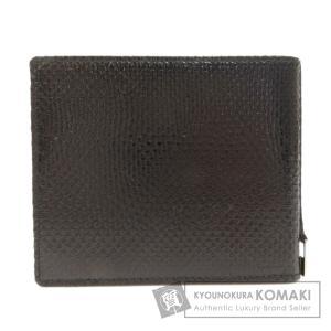 GUCCI グッチ 札入れ 型押し 二つ折り財布(小銭入れなし) レザー レディース 中古|kyounokura