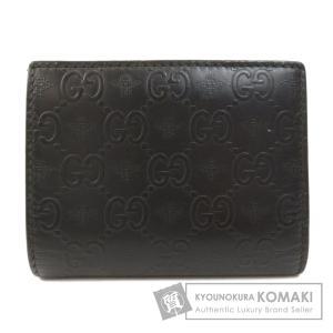GUCCI グッチ 410120 GGアルヴェアーレ 二つ折り財布(小銭入れなし) レザー メンズ 中古|kyounokura