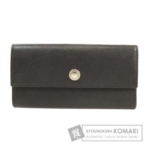 BVLGARI ブルガリ ロゴタイプ 長財布 小銭入れあり レザー メンズ 中古|kyounokura