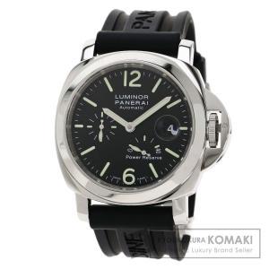 PANERAI パネライ PAM00090 ルミノール 44 パワーリザーブ 腕時計  ステンレススチール ラバー メンズ  中古 kyounokura