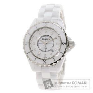 CHANEL シャネル H1628 J12 33mm 12P ダイヤモンド 腕時計  ステンレススチール セラミック レディース  中古 kyounokura