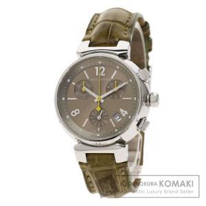 LOUIS VUITTON ルイヴィトン Q1322 タンブール 腕時計  ステンレススチール 革 レディース  中古 kyounokura