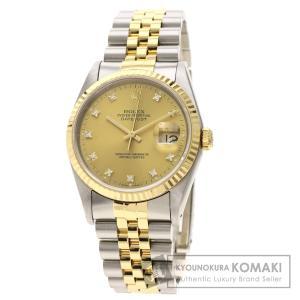 ROLEX ロレックス 16233G デイトジャスト 10P ダイヤモンド 腕時計  ステンレススチール SSxK18YG メンズ  中古 kyounokura