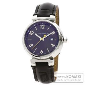 LOUIS VUITTON ルイヴィトン Q1111 タンブール  腕時計  ステンレススチール 革 メンズ  中古|kyounokura