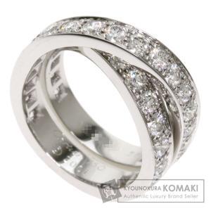 CARTIER カルティエ パリリング ダイヤモンド #56 リング・指輪 K18ホワイトゴールド レディース 中古 kyounokura